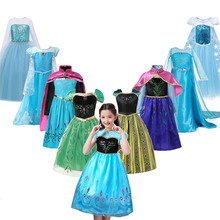 Elsa Dress Girls Princess Elsa Dress Up Dresses Kids Costume Elsa Anna Fancy Clothing Children Cosplay Frocks Elsa Blue Dress футболка стрэйч printio elsa schiaparelli