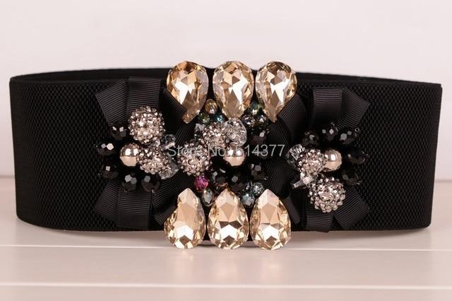 Original  women's accessories Four Seasons wild 100% rhinestone crystal wide waist belt girdle