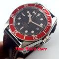 41mm Corgeut estéril preto dial rose gold rim mãos vermelhas inserir MIYOTA Automáticos de vidro Moldura de safira relógio dos homens Cor53