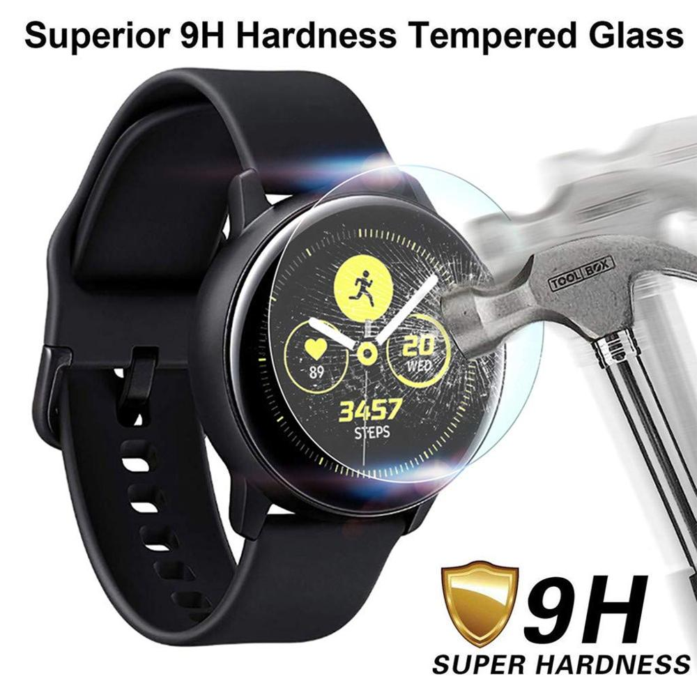 5PC 9H HD Tempered Glass Screen Protector Film For Samsung Galaxy Watch Active Smart Watch Transparent Screen Protection Film(China)