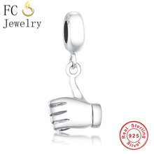 FC Jewelry Fits Original Pandora Charms Bracelets Authentic 925 Sterling Silver Finger Men Hand Pendant Necklace Beads Berloque(China)