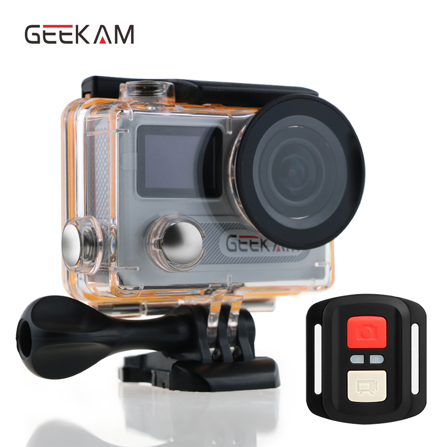 action камера acme vr03 ultra hd 4k GEEKAM H8RS action camera Ultra HD Waterproof 4K Video 170 degrees 2.0 dual screen 1080p 60fps WiFi Action Sport camera