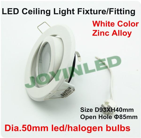4W GU10/MR16 spotlight lamp holder LED Ceiling spot fixture/Halogen lighting white case round circle aluminum white casing