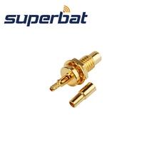Superbat 50 Ohm SMC Jack женский прямой прижим соединитель для крепления кабеля 1.13mm1.37mm