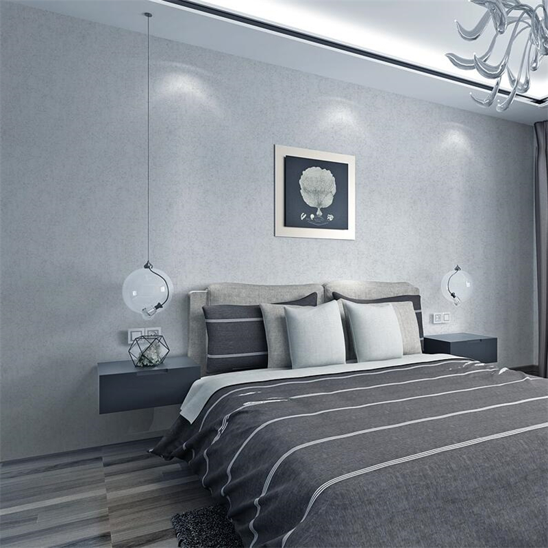 High End Bedroom Furniture Simple Bedroom Lighting Bedroom Ideas Grey And White Painting Your Bedroom Furniture: Beibehang Plain Solid Color Silk Environmental Protection