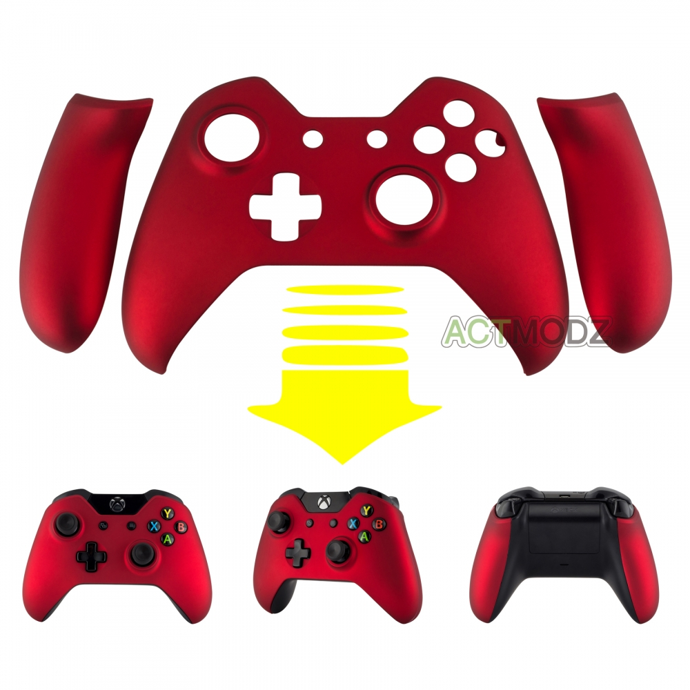 Top Housing Shell Faceplate Repair Parts &panels For Xbox One Controller Soft Touch Red