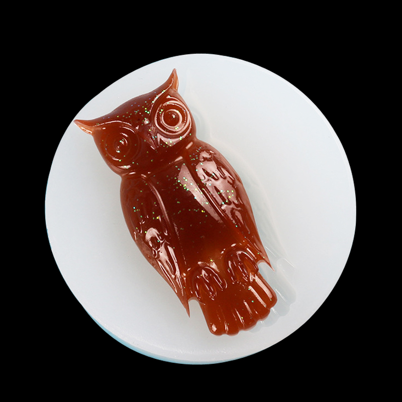 Owl Pendant Casting Crystal Molds Epoxy Clear Silicone Resin Liquid Soap Clay Cake Mold DIY Jewelry Making Craft Beads Tool