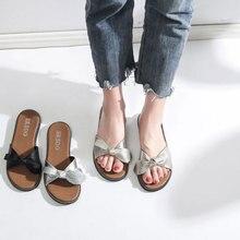 New 2018 Women Beach Sandals Fashion Butterfly Knot Slippers Summer Women Flat Shoes Woman Flat Sandals Flip Flop Zapatos Mujer