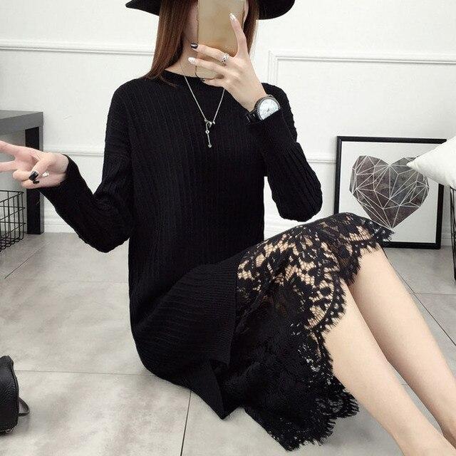 2018 Femmes Robe Style Pull Lâche Nouvelle De Coréen Chandail xR00qpFOw