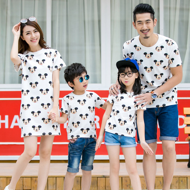 893507fff2d 2018 family matching outfits nursing dress mother daughter dresses children  summer T shirt baby romper mother son kids clothes