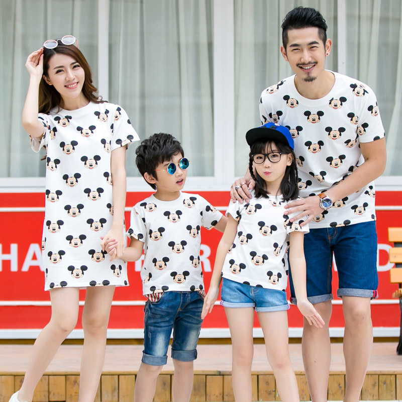 2019 Family Matching Outfits Nursing Dress Mother Daughter Dresses Children Summer T Shirt Baby Romper Mother Son Kids Clothes