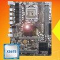 Совершенно новая настольная материнская плата HUANAN ZHI X58 LGA1366 материнская плата с процессором Intel Xeon X5675 3 06 GHz USB3.0 RAM 2 канала