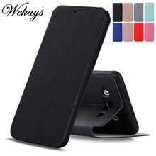 Фотография Wekays Case sFor Coque Samsung Galaxy J3 2016 J310 J5 2016 J510 J7 2016 J710 Ultrathin Business Leather Flip Fundas Cover Cases