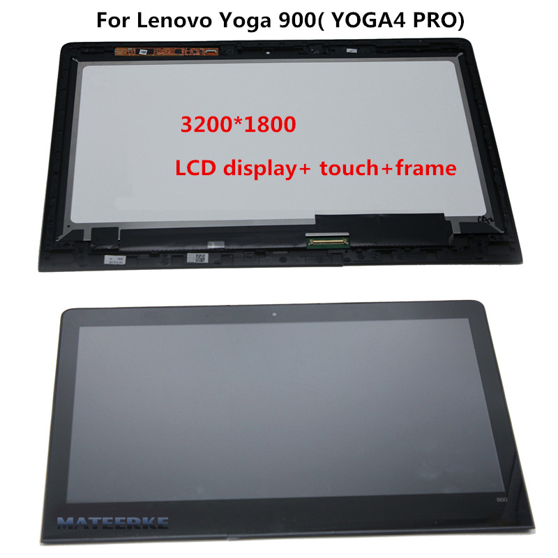 Original NEW 13.3 INCH LCD Screen LTN133YL05 LCD Display with Touch For Lenovo Yoga 4 PRO Assembly Yoga 900 with Frame original new 7 inch korg pa600 lcd screen with touch