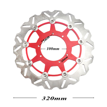 320MM Oversize Front Wavy Floating Brake Disc Rotor CR125 CR250 CRF250R CRF250X CRF450R CRF450X CRF230F CR500 Supermoto Motard 270mm blue front floating brake disc rotor adaptor for yz yzf wr wrf 250 400 450 motorcycle supermoto motard motocross
