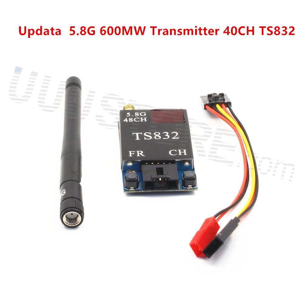 FPV RC 5,8G 5,8 GHZ 600 mW Update 48CH Wireless Video Sender (TX) modul TS832 RP-SMA Flugzeug ZMR250 QAV280 QAV250 Drone
