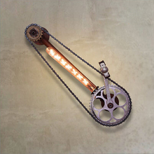 Vintage Loft Iron Bicycle Chain Wall Lamp Industrial Sconce Lighting  Bathroom Wall Light Fixtures