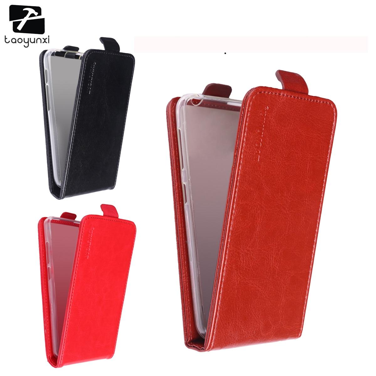 TAOYUNXI Flip Phone Cases Covers For Fly IQ4416 IQ 4416 quad Era Life 5 life5 Case Cover Magnetic PU Leather TPU Holder