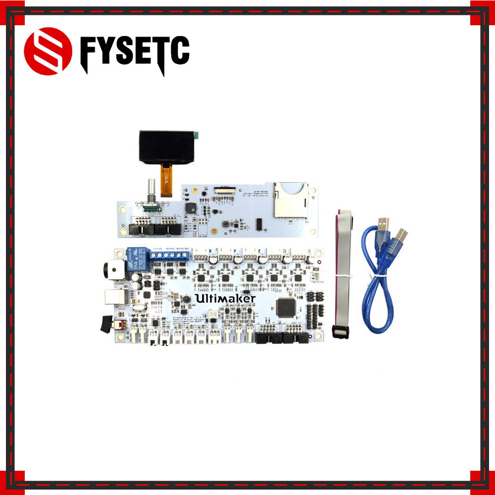 Ultimaker V2 1 4 mainboard with OLED screen kit UM2 smart controller board circuit mother board