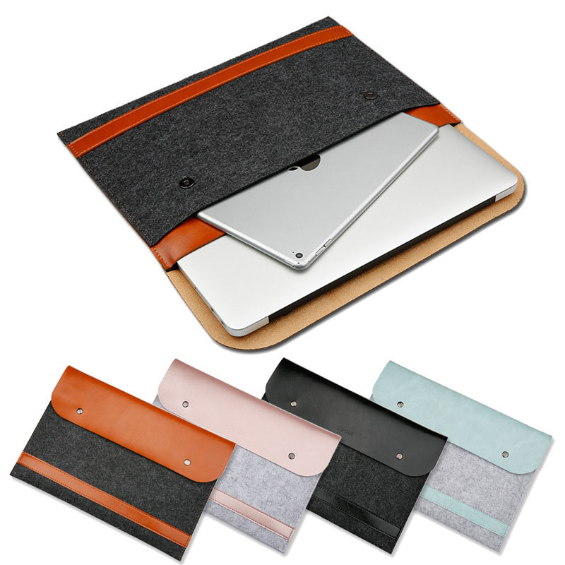 Laptop Liner Sleeve Bag Case for Apple Macbook Air Pro Retina 11 12 13 15 Wool Felt Case for Macbook A1706 A1708 A1707 New 2016 redlai plant floral print hard case for apple macbook pro retina 13 3 12 15 4 sleeve air 11 13 3 new pro 13 15 a1706 laptop case