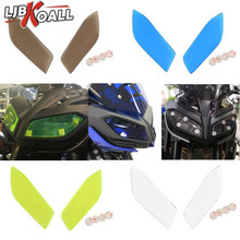 2 Pcs Acrylic Plastic Front Headlight Screen Lens Cover Protector Guard for Yamaha MT FZ 09 MT-09 FZ-09 MT09 FZ09 2017 2018 2019