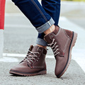 2016 Winter New Men Boots British Style Fashion Trend Casual Male Boots with Cotton Men's Martin Boots Men's Non-slip Snow Boots