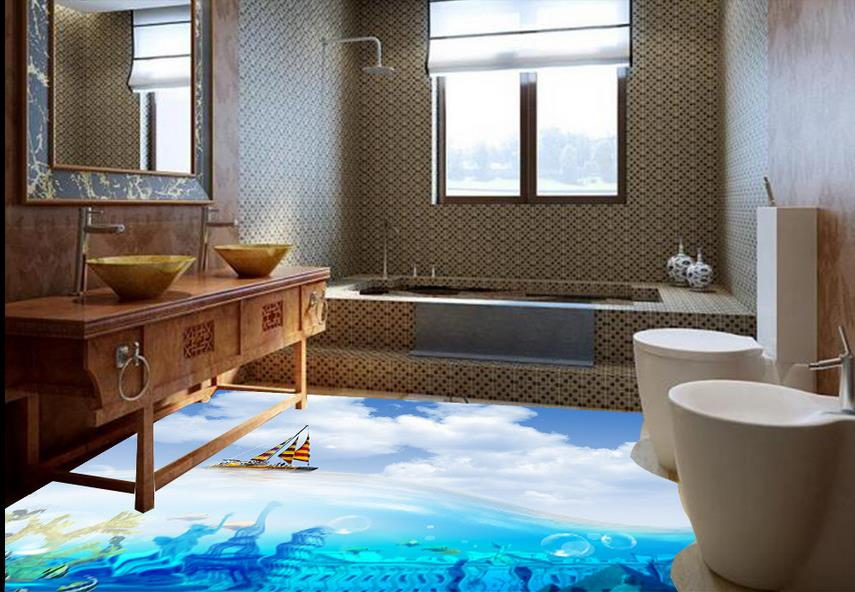 ФОТО custom wall paper rolls pvc floor photo wallpaper 3d floor Skies Abstract wallpapers for living room vinyl flooring adhesives