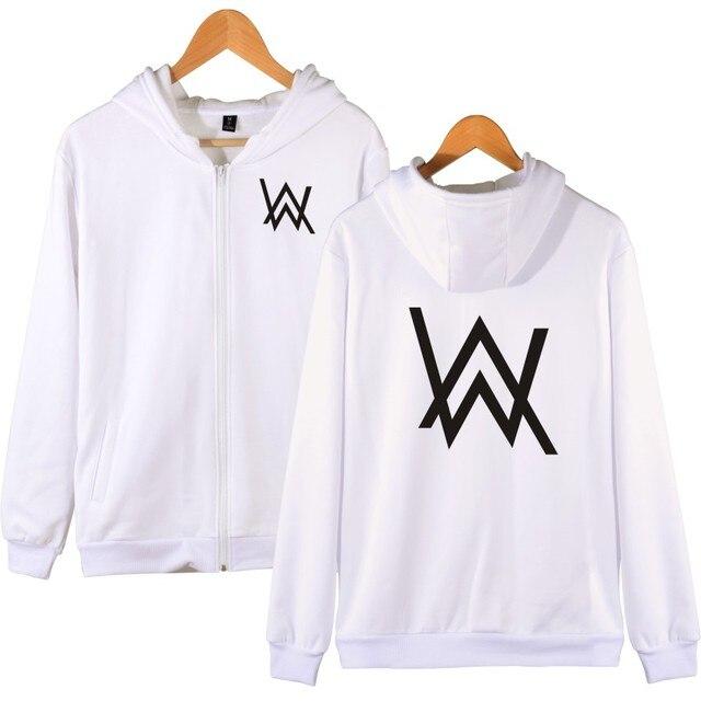LUCKYFRIDAYF Alan Walker Women/Men Zipper Hoodies  And Sweatshirt Fashion Cool Kpop Hip-hop Zipper Hoodies For Men Plus Size 4XL