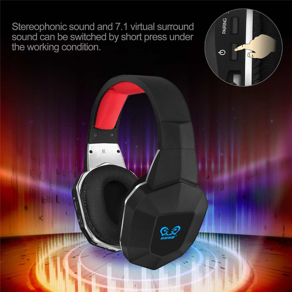 Professional Original 7.1 Surround Sound 2.4GHz Wireless Optical Fiber Stereo Gaming Headset Headphones for Xbox One PS4 PS3 PC image