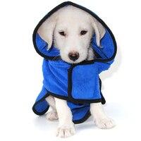 Pet Microfiber Fabric towel Super absorbent Dog bathrobe towel Super thick bath towel Dogs Cat Winter Warm Blue/Coffee Clothes