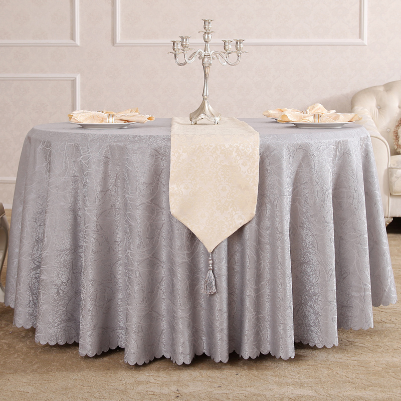quality jacquard restaurant hotel round table cloth for weddings parties hotels restaurant