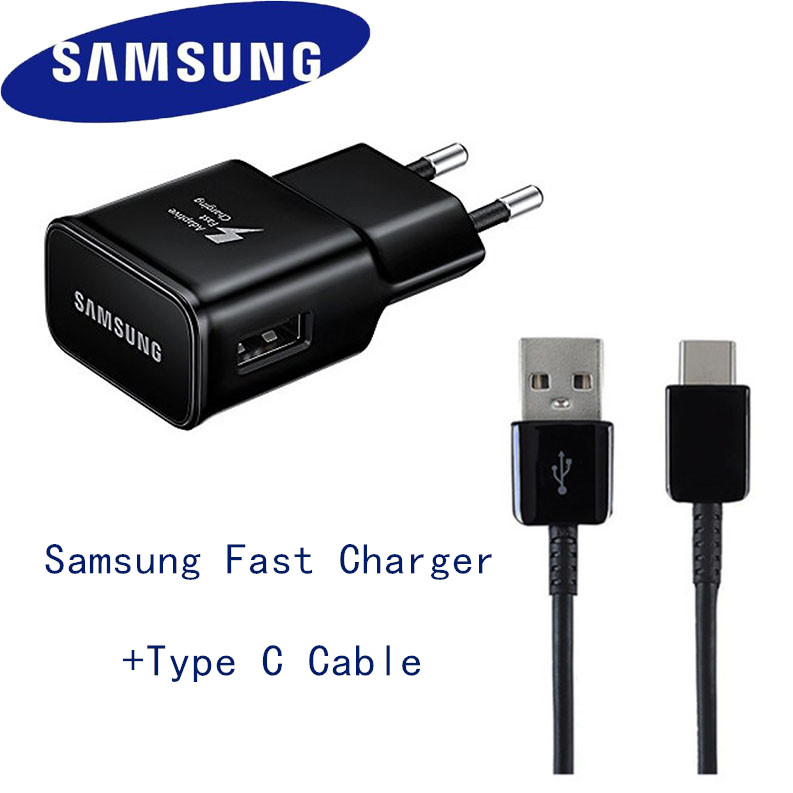 Original EU Samsung s8 Fast Charger 9v1.67a charge adapter Type C cable USB for Galaxy s10+ s10 s9 s8 plus note 8 9 a5 2017 tech 2 scanner for sale