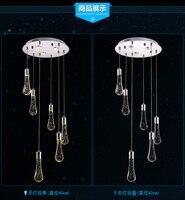 תליית creative אופנה מודרני led מינימליסטי אור תליון גביש בועת מנורת בר חדר אוכל restaraunt