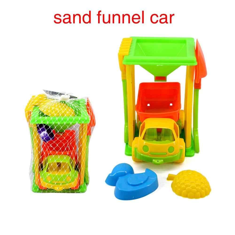 Leadingstar летняя одежда для детей красочный автомобиль грузовик песка Воронки лабораторные лопатой Грабли пляж игрушка набор zk30