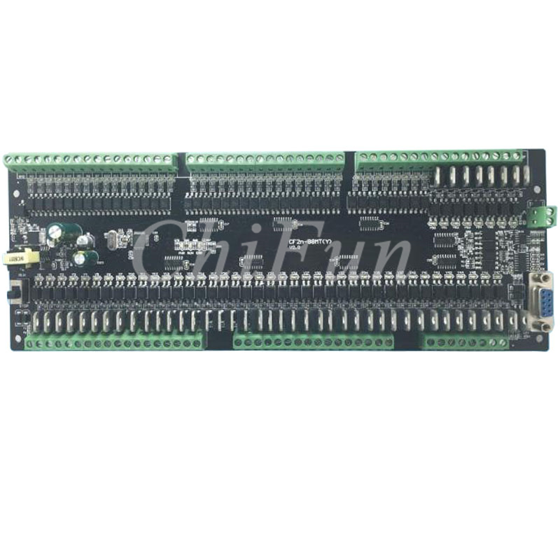 FX2N 88MT PLC industrial control board 40 input 48 Transistors output Support RS485 modbus communication