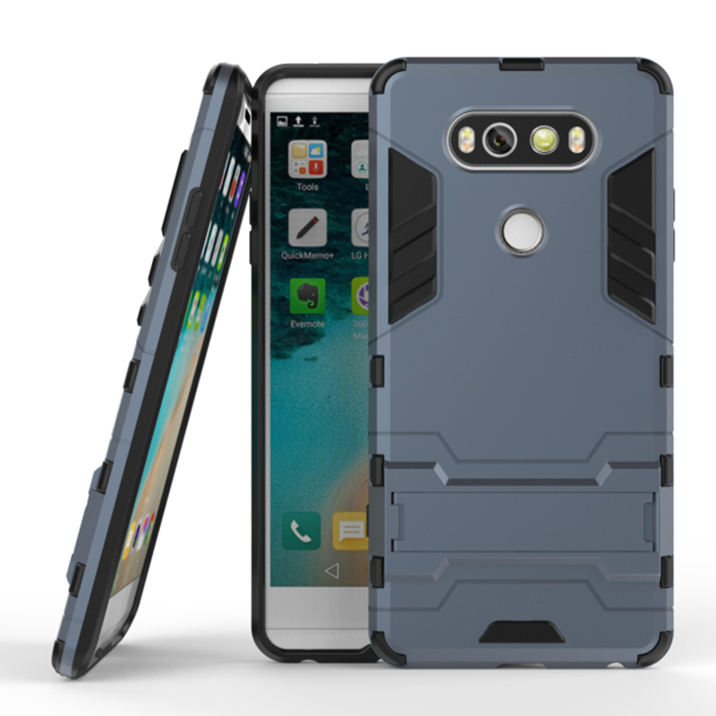 "for LG V20 Dual Layers Shockproof Rugged Hybrid Armor Case for LG V20 5.7"" Cover With Kickstand mobile Phone Accessories"