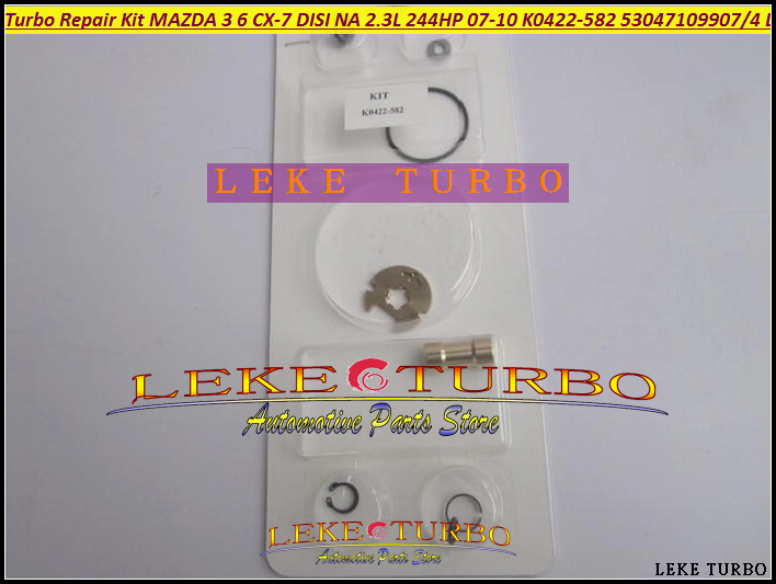 Turbo Repair Kit rebuild kits K0422-582 53047109904 L33L13700C Turbocharger For Mazda 6 3 For Mazda CX-7 07- MZR DISI 2.3L 244HP turbo rebuild repair kit bv43 53039880122 53039880144 53039700144 28200 4a470 282004a470 for kia sorento 2001 06 d4cb 2 5l crdi