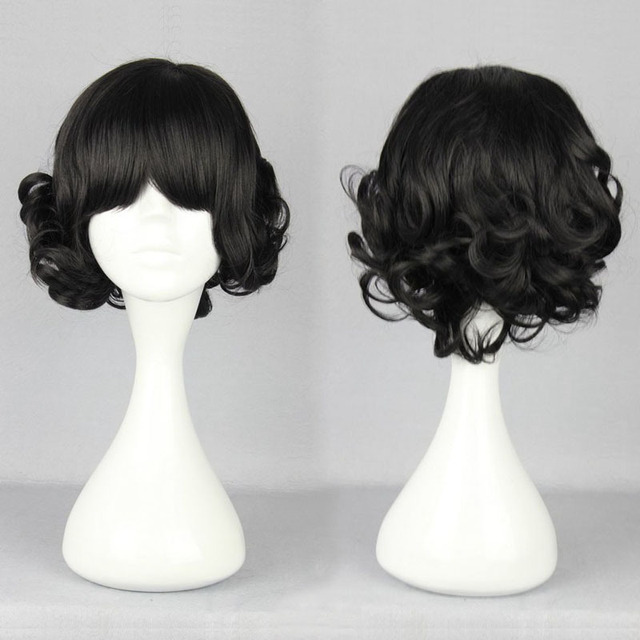 wig cosplay black Short