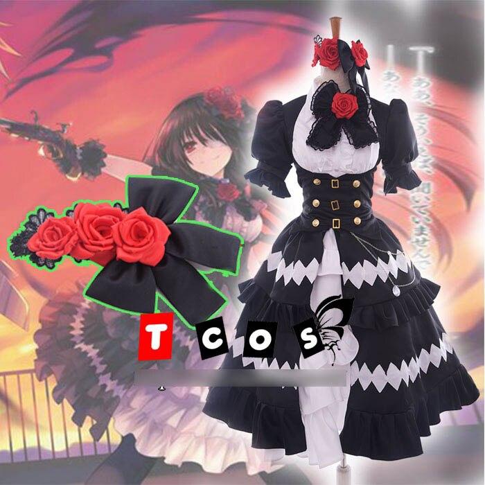 Date A Live Tokisaki Kurumi Five Years Ago Hallowmas Lolita Party Dress Uniform Cosplay Anime Costume Any Size NEW