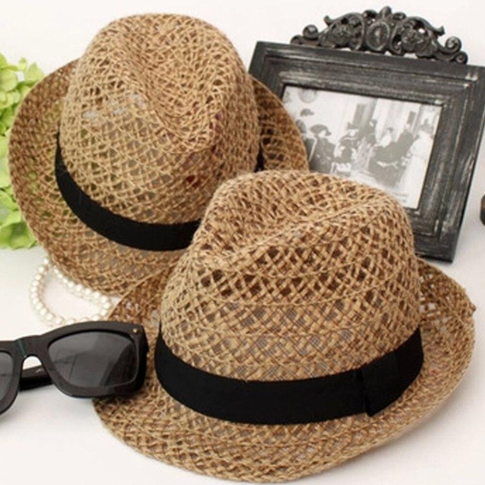 2017 modis musim panas perempuan topi pantai untuk wanita sun gadis straw hat