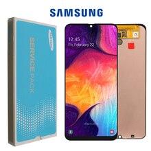 """6.4 """"מקורי סופר AMOLED עבור Samsung galaxy A50 2019 A505F/DS A505F A505FD A505A מגע מסך Digitizer עצרת עם מסגרת"""