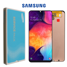 """6.4 """"Nguyên Bản Super AMOLED Cho Samsung Galaxy A50 2019 A505F/DS A505F A505FD A505A Bộ Số Hóa Cảm Ứng có khung"""