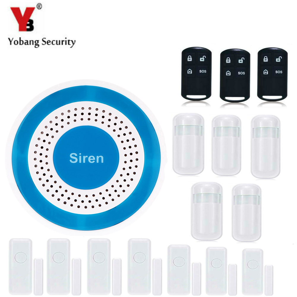 YobangSecurity Wireless Loudly Speaking Voice Anti-Theft Alarm System Home Security Alarm System Door Detector PIR Alarm SensorYobangSecurity Wireless Loudly Speaking Voice Anti-Theft Alarm System Home Security Alarm System Door Detector PIR Alarm Sensor