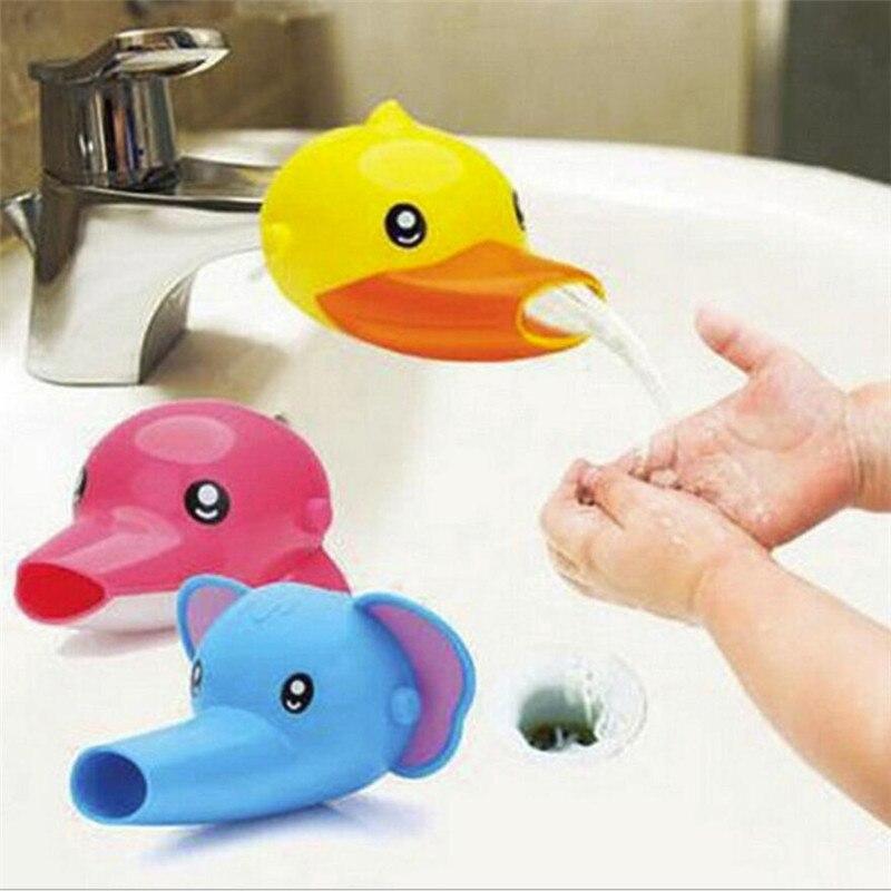 1 Stück Glücklich Spaß Tiere Wasserhahn Extender Baby Wannen Kinder Hand Waschen Waschbecken Geschenk Mode Und Bequem üBerlegene Materialien