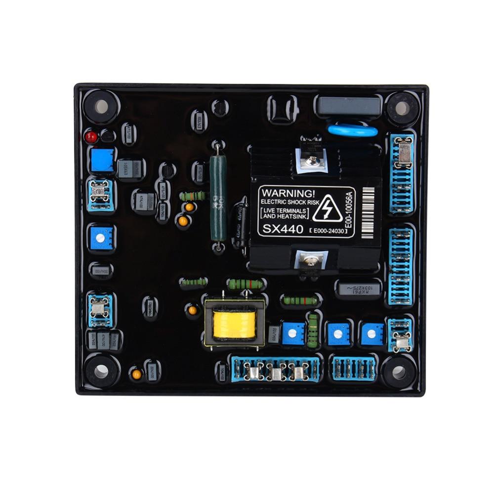 5pcs High Quality Black Automatic Voltage Regulator AVR SX440 For Generator high quality generator alternator automatic voltage regulator avr r230