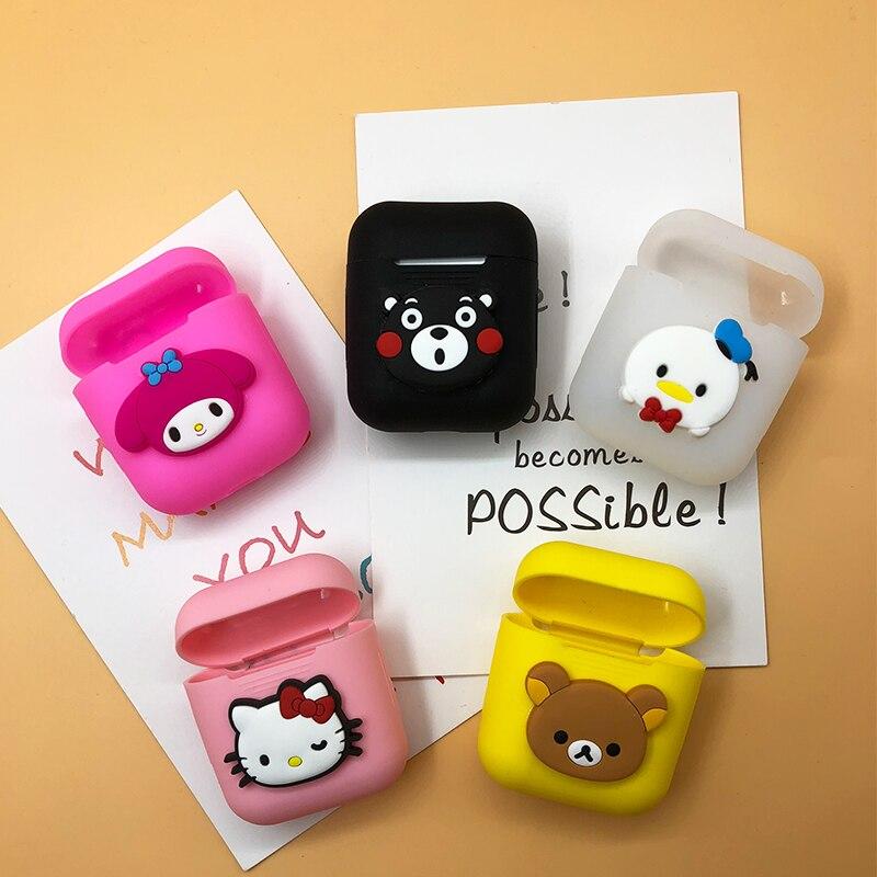Cartoon Hello Kitty Bear Daisy Silicone Case For Apple