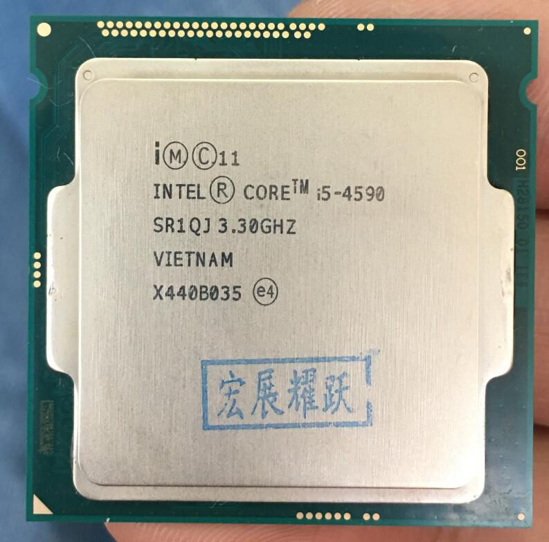 Intel Core  Processor I5 4590  I5-4590  LGA1150  22 Nanometers  Dual-Core  100% Working Properly Desktop Processor
