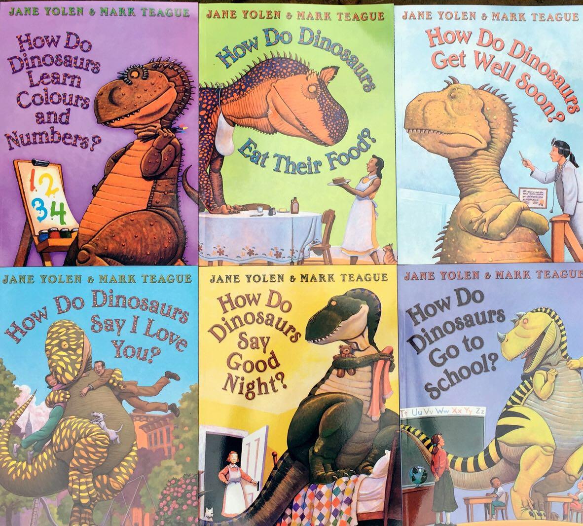 Comment les dinosaures 6 livres/ensemble photo livres jouets éducatifs enfants anglais étude histoire livres maternelle enfants lecture livre