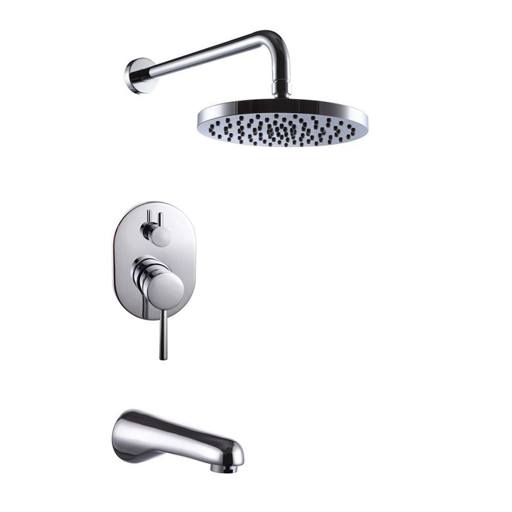Wall Mounted Bathroom Single Handle Shower Faucet Set Trim