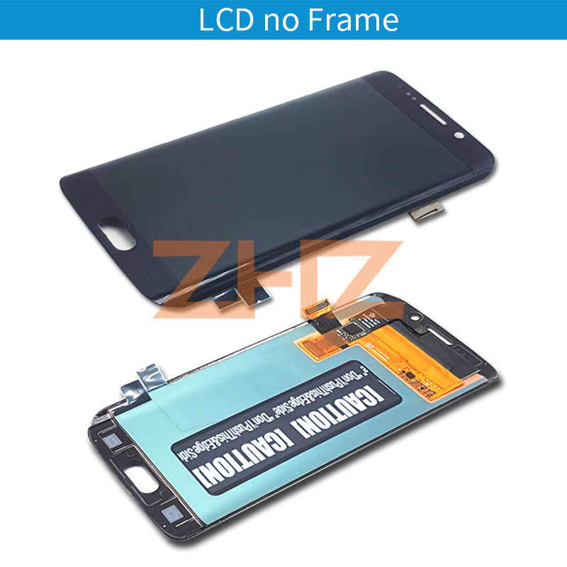 Image 4 - For Samsung Galaxy S6 Edge lcd display touch screen digitizer assembly G925 G925F SM G925F with frame replacement repair part